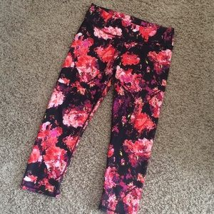 Fabletics compression floral leggings
